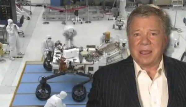 William Shatner and Wil Wheaton lend their voices to NASA's Curiosity rover landing video
