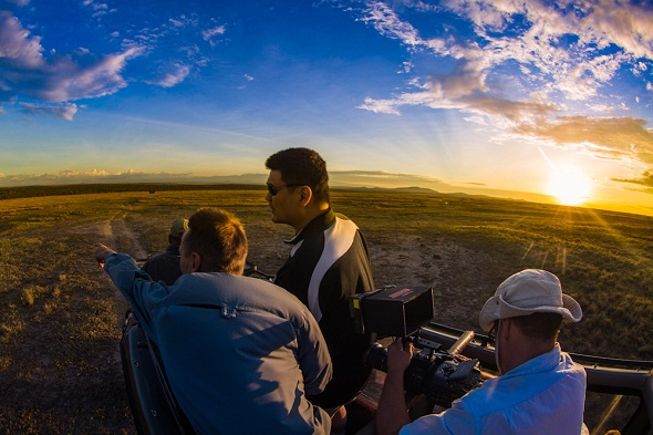 Yao Ming travels to an African wildlife sanctuary in an effort to raise awareness about poaching of endangered species.