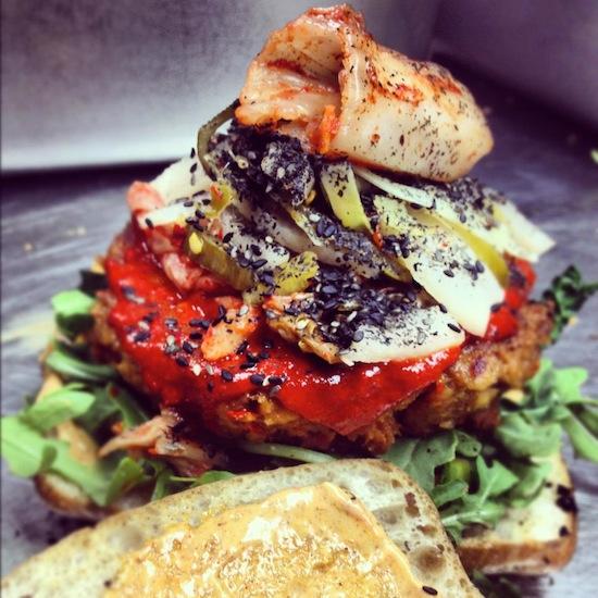 cinnamon snail burger