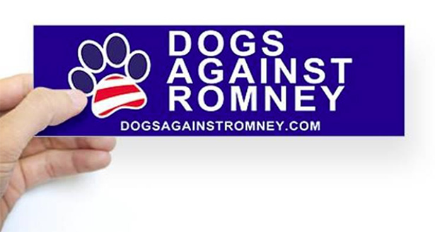 dogs against romney on facebook