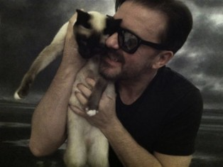 ricky gervais and ollie the cat