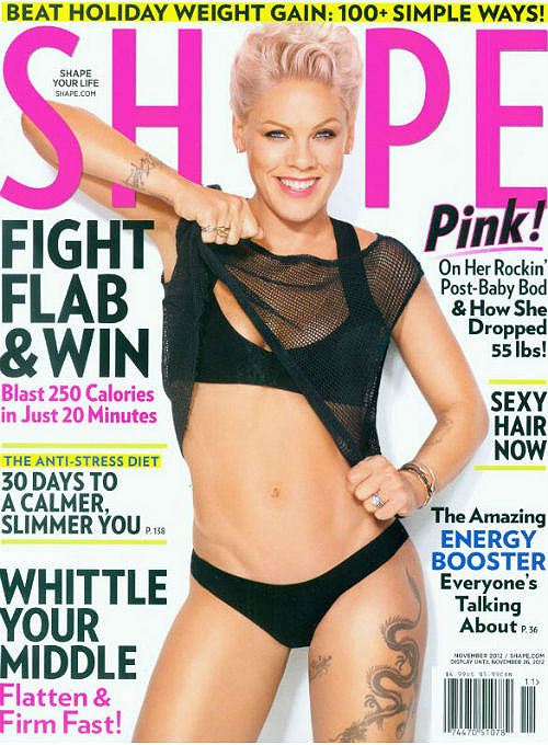 pink abs shape magazine