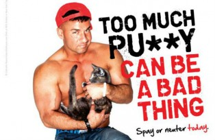Mike 'The Situation' Sorrentino poses for PETA to promote the spay and neutering of pets