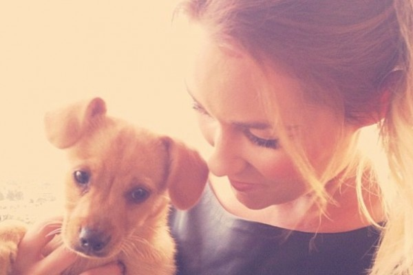 Lauren Conrad recently adopted a shelter puppy named Fitz.