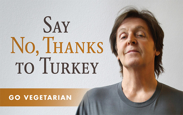 paul mccartney vegan thanksgiving