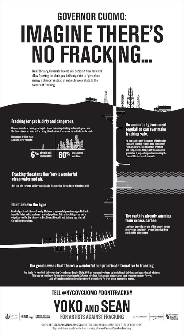artists against fracking ny times advertisement