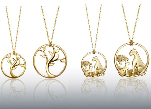 Alex Woo's necklaces are designed to benefit specific charities.