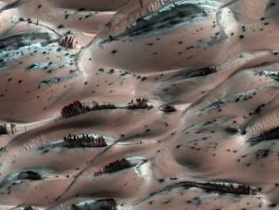 mars pink sand dunes