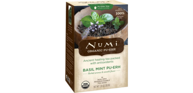 Numi basil mint tea is warming and green for winter