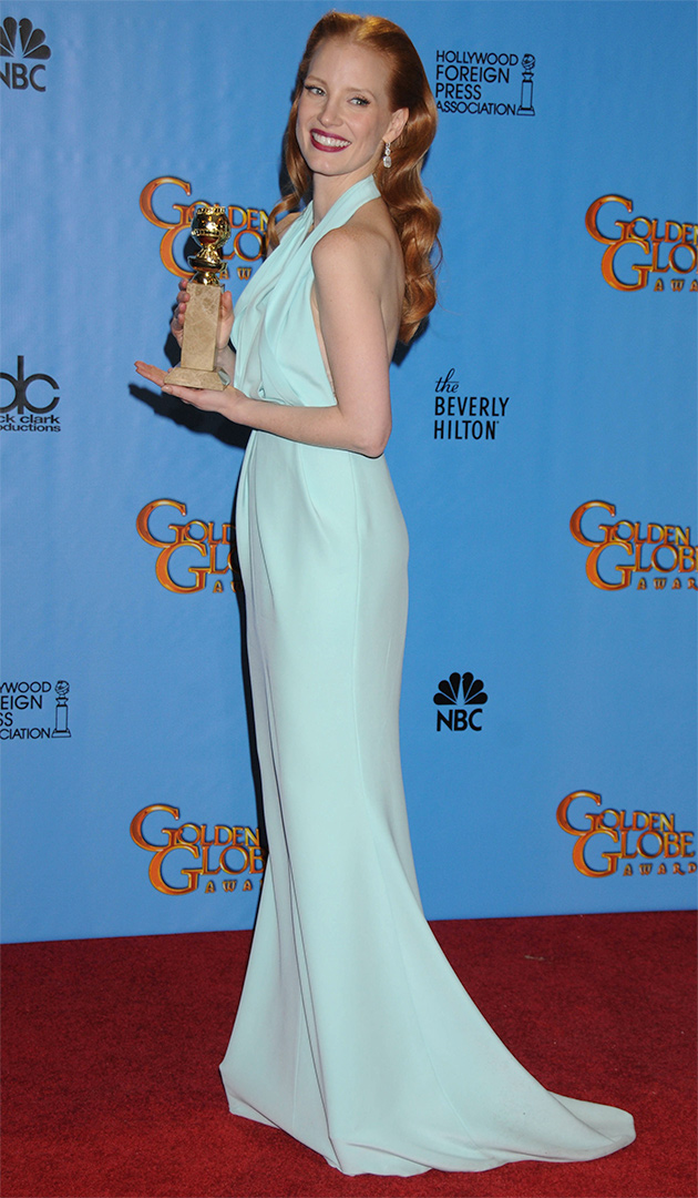 Jessica Chastain Golden Globes 2013