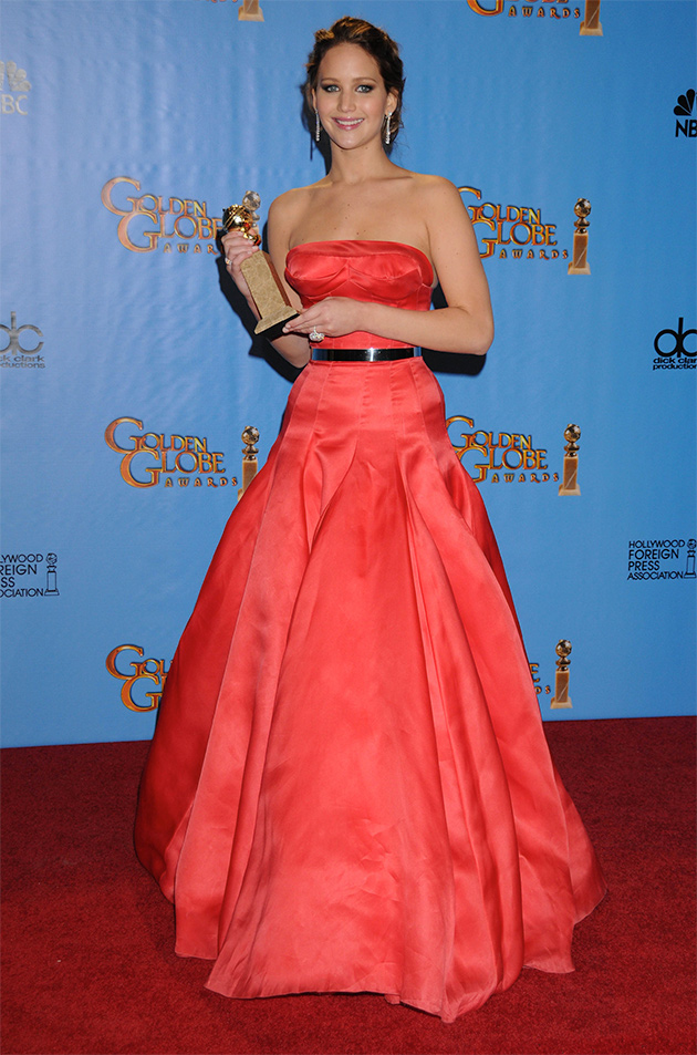 jennifer lawrence golden globes 2013 winner