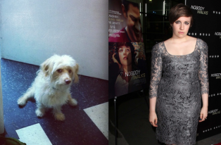 lena dunham and dog 1