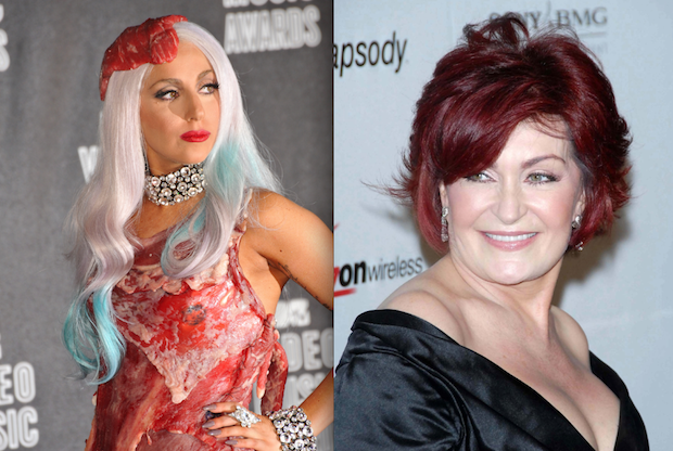 sharon osbourne and lady gaga
