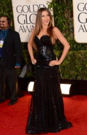 sofia vergara golden globes 2013 dress