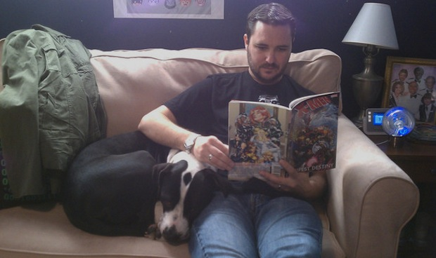Wil Wheaton owns two rescued pit bulls, Seamus and Marlowe.