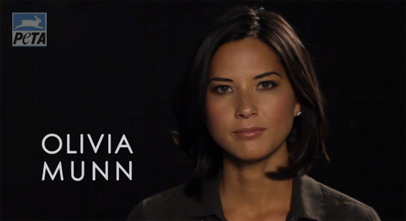 olivia munn peta anti-fur video