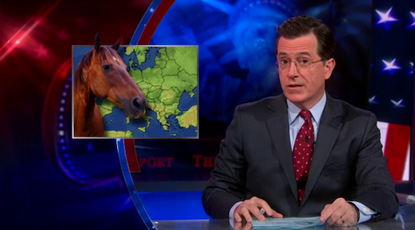 Stephen Colbert weighs in on the horse meat scandal in Europe.