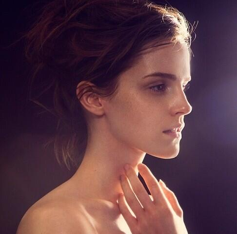 Emma Watson goes topless for James Houston's new book 'Natural Beauty'