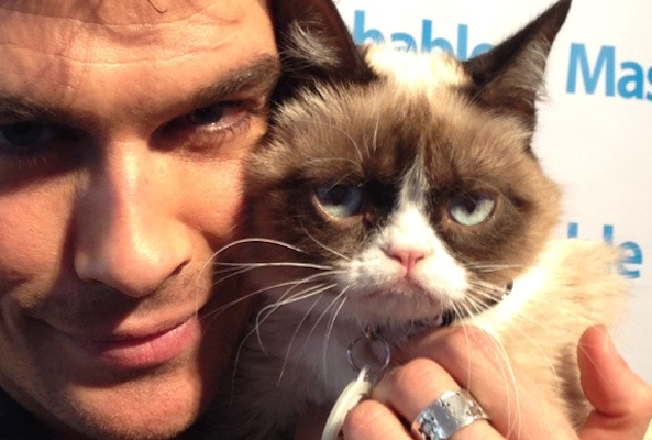 ian somerhalder and grumpy cat