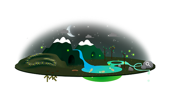 google earth day doodles