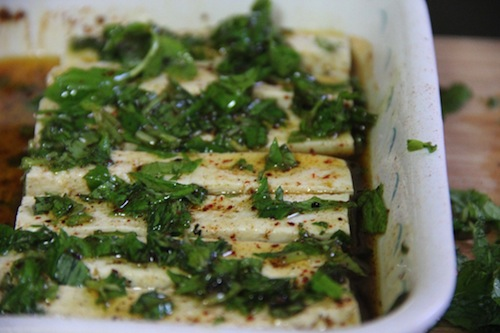 mint tofu marinade