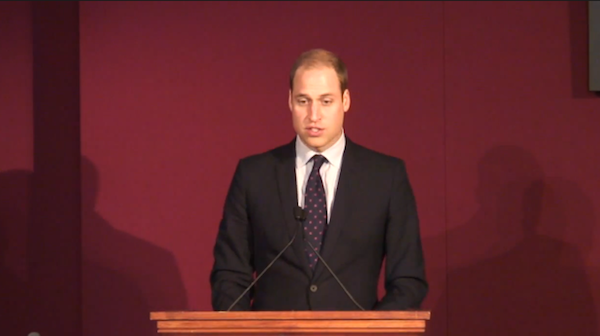Prince William is set to deliver a rare speech on Chinese television to discuss the need to curb the illegal wildlife trade.