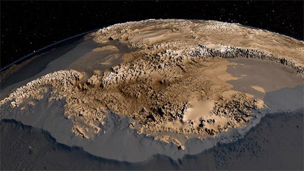 antarctica bedrock