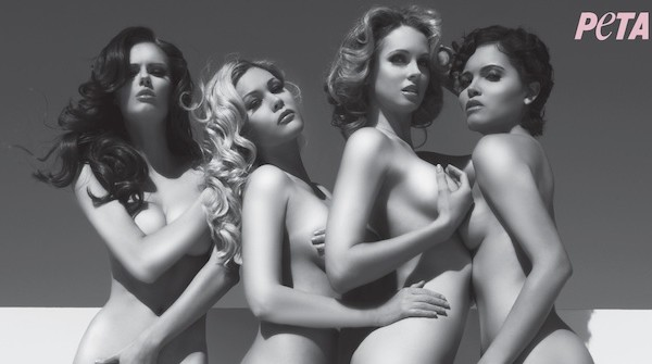 "Four former Miss USA winners have joined PETA's ""Rather Go Naked Than Wear Fur"" campaign."