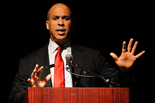 Cory Booker Rescues Abused Dog