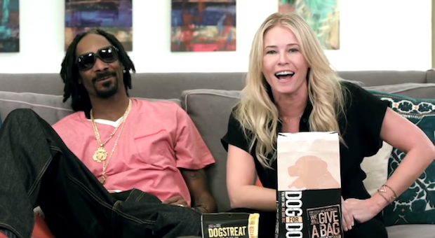 Snoop Dogg and Chelsea Handler have teamed up to help shelter dogs.