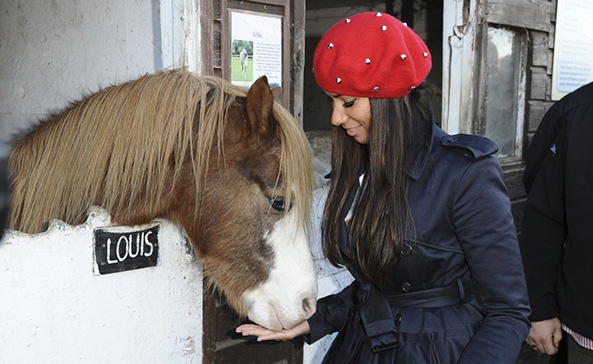 Leona Lewis loves animals and being a vegetarian