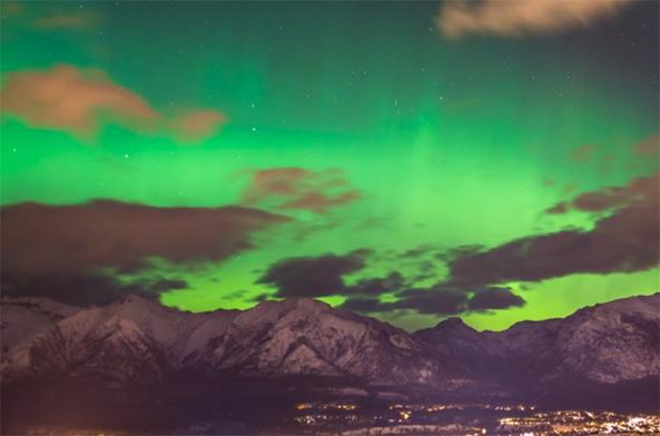 aurora time lapse