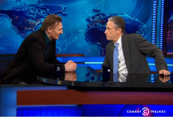 Jon Stewart and Liam Neeson argue over NYC's horse carriage ban
