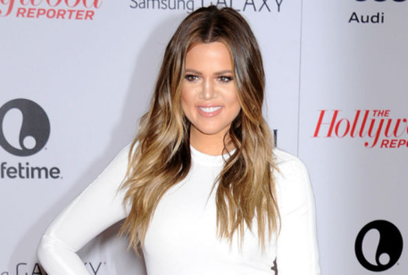 Khloe Kardashian wore a faux fur coat with red pain spelling out 'Fxck Yo Fur'