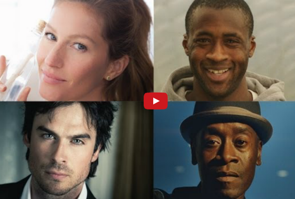 Gisele Bundchen, Ian Somerhalder, Don Cheadle and Yaya Toure for World Environment Day