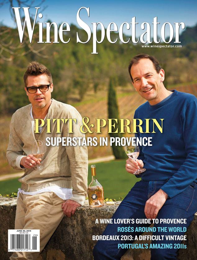 brad pitt wine spectator
