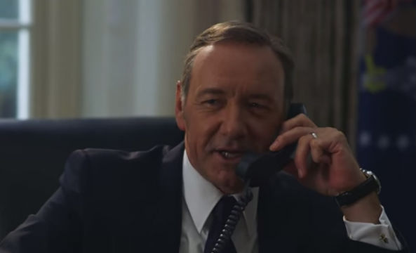Kevin Spacey as Frank Underwood prank calls Hillary Clinton