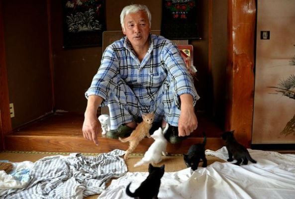 Naoto Matsumura has refused to leave the radioactive town of Fukushima, Japan in order to take care of its abandoned animal residents.