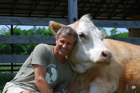 """Farm Sanctuary president + founder Gene Baur speaks about his book, """"Living the Farm Sanctuary Life,"""" the value of veganism + the broken system we exist in."""