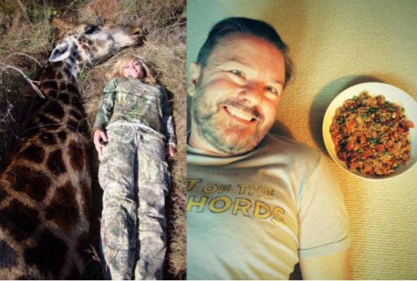 ricky gervais puts trophy hunter on blast