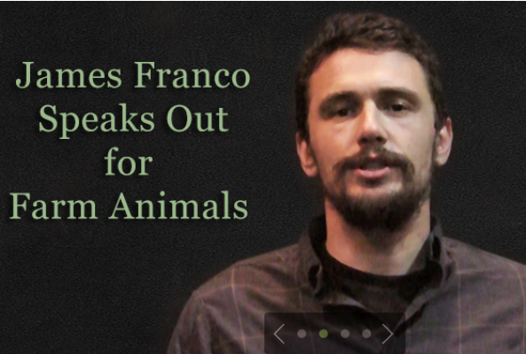 james franco speaks out for farm animals
