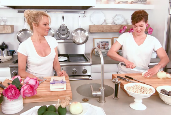 pamela anderson launches vegan online cooking show