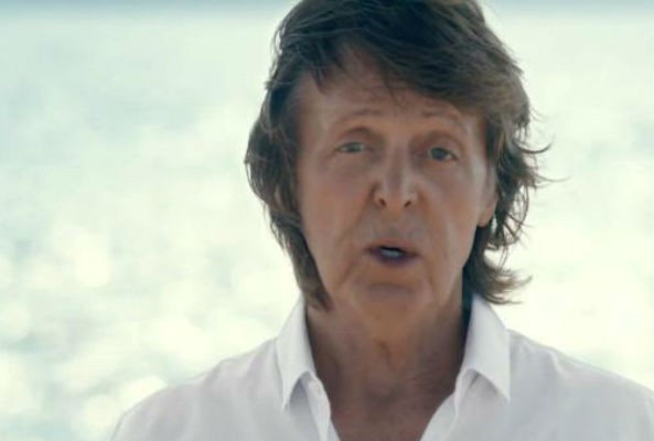 "Former Beatle Paul McCartney, alongside a crew of singers, appear in the new music video for the climate change charity single, ""Love Song to the Earth."""