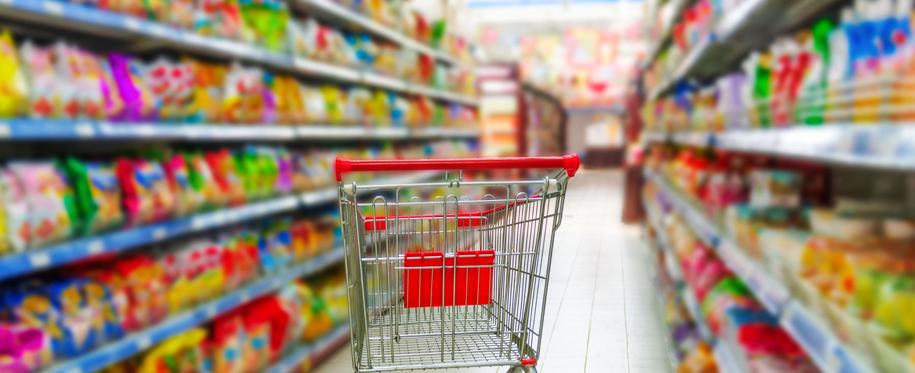 Is Food On The Shelf Of A Grocery Store